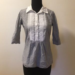 Cute pleated front Charlotte Russe Blouse